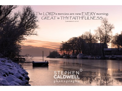 Antrim Lough Shore - Lamentations - Scripture Text Wall Art
